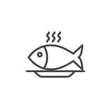 Fish food line icon, outline vector sign. Linear style pictogram isolated on white. Symbol, logo illustration. Editable stroke. Pixel perfect vector graphics Royalty Free Stock Images