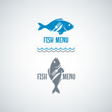 Fish Food Logo. Fork And Knife Vector Background, Stock Photography