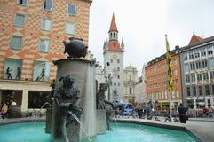 Fish Fountain - Munich - Germany royalty free stock photos