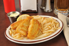 Fish and french fries Royalty Free Stock Photography