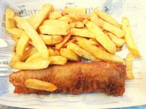 Fish fresh chips food lunch dinner tasty Royalty Free Stock Image