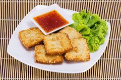 Fish fride with vegetable Royalty Free Stock Photo