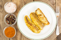 Fish fried in breadcrumbs Stock Photography