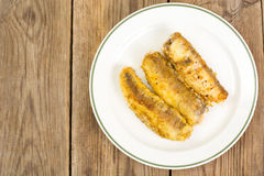 Fish fried in breadcrumbs Stock Image