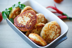 Fish fried patties Royalty Free Stock Images