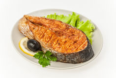 A fish  fried Royalty Free Stock Photos