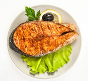 A fish  fried Royalty Free Stock Images