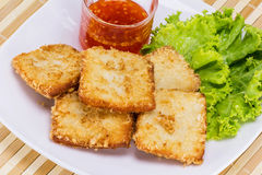 Fish fried with vegetable Royalty Free Stock Photo