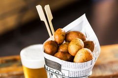 Fish fritters Stock Photos