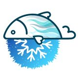 Fish frozen fresh symbol. For business Royalty Free Stock Photo