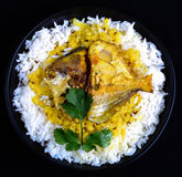Fish Fry. Indian Fish Fry With Daal Rice Royalty Free Stock Image