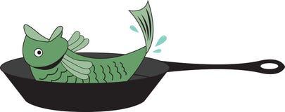 Fish Fry Pan Stock Photo