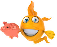 Fish. Fun fish, 3d generated illustration Royalty Free Stock Images