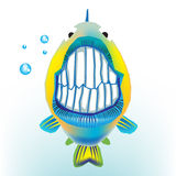 Fish with funny grin. Isolated on white Royalty Free Stock Image