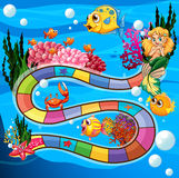 Fish game. Boardgame with underwater theme and animals Stock Images