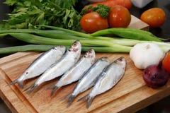 Fish with garnishing Stock Photography