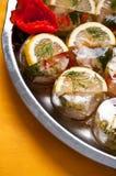 Fish in gel food stock photos