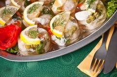 Fish in gel food Royalty Free Stock Image