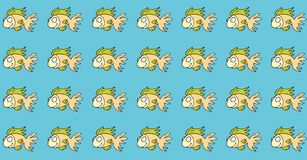 Fish, gift card or cloth, pattern, repeating pattern, Stock Photo