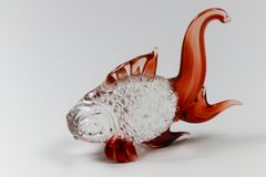 Fish glass sculpture for decoration Royalty Free Stock Images