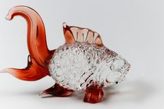 Fish glass sculpture for decoration Royalty Free Stock Photo