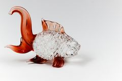 Fish glass sculpture for decoration Stock Photography