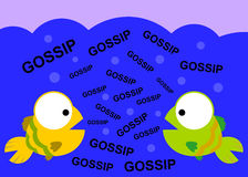 Fish gossip. An illustration of two fish gossiping Stock Photos