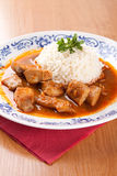 Fish goulash with rice and sauce Stock Images