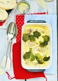 Fish gratin Stock Photography
