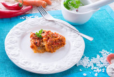 Fish in Greek kind with vegetables Stock Images