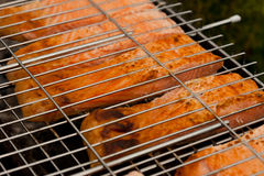 Fish on grill Royalty Free Stock Photography