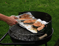 Fish on the grill Royalty Free Stock Photography