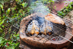 Fish grill Stock Photo