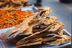Fish grill,Fish fry,Oreochromis niloticus,nile tilapia fry. Royalty Free Stock Images