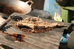 Fish grill ,Thai flood Stock Photography