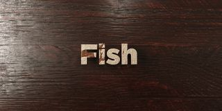 Fish - grungy wooden headline on Maple  - 3D rendered royalty free stock image. This image can be used for an online website banner ad or a print postcard Royalty Free Stock Images
