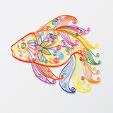 Fish. Hand-drawn of fish in color stock illustration