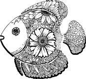 Fish hand drawn doodle. Illustration of fish hand drawn doodle Stock Photo