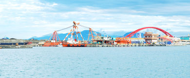 Fish Harbor, ChuWei - panorama royalty free stock photography