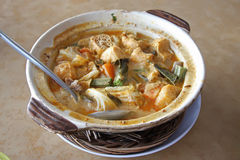 Fish head curry Royalty Free Stock Images