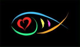 Fish heart Royalty Free Stock Image