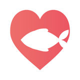 Fish heart food cat pet Stock Image