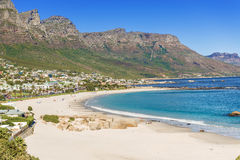 Fish Hoek and the beach Royalty Free Stock Photos