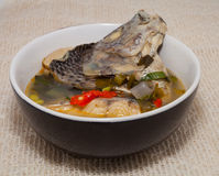 Fish hot and sour soup Royalty Free Stock Photos