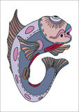 Fish-hussar. The vector image of a fantastic fish Stock Image