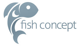 Fish Icon Concept Royalty Free Stock Photo