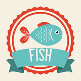 Fish icon design Stock Image