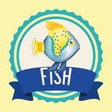 Fish icon design. Fish digital design, vector illustration 10 eps graphic Royalty Free Stock Image