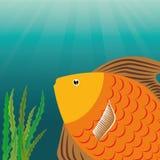 Fish icon design. Fish digital design, vector illustration 10 eps graphic Stock Photography