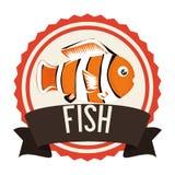 Fish icon design. Fish digital design, vector illustration 10 eps graphic Royalty Free Stock Images